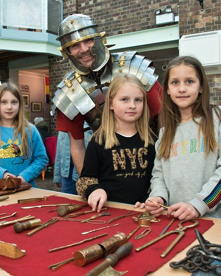 Learning about the Romans with the legionaries of the Ermine Street Guard at Weston Museum History W