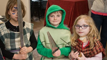 Pre-historic History Day at Weston Museum. Young Iron Age Warriors. Picture: MARK ATHERTON