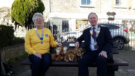 A bench was presented to Cheddar Parish Council. Picture: Cheddar Vale Lions Club
