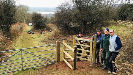 The new kissing gates on West Mendip Way. Picture: T. Haselden (Mendip Hills AONB)