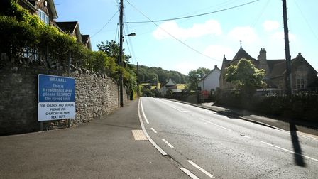 A warning sign could be installed near Wraxall Primary School. Picture: Jeremy Long