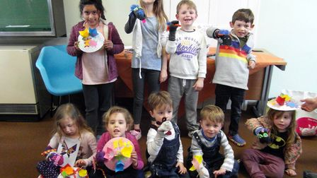 A craft event was held at Cheddar Library.