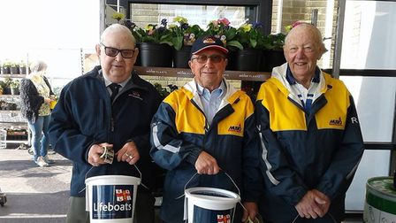 Volunteers collected outside ASDA for Weston RNLI.