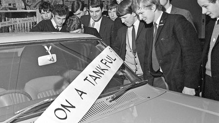 Pupils of Walliscote Secondary School where suprised to find a Ford Capri in the middle of their sch