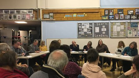Cheddar Parish Council discussing the plans.Picture: Lily Newton-Browne