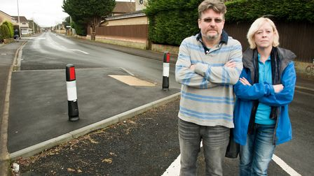 Mike Trinder with Cllr Denise Hunt. Picture: MARK ATHERTON