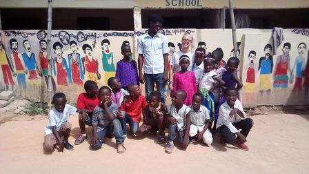 Holly Simpson spent three months volunteering in Ghana. Picture: Holly Simpson