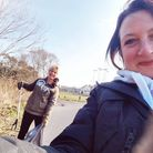 Annette Goold and Emma Harris after completing their litter pick. Picture: Emma Harris