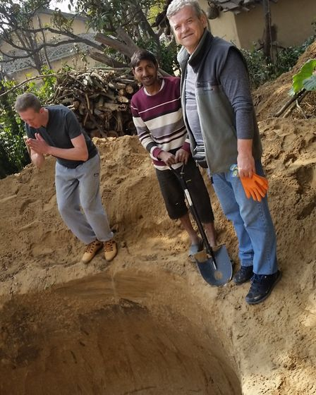 A team of volunteers from Holy Trinity Church in Weston-super-mare dug biogas toilets at villages in