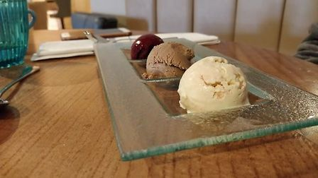 A delicious trio of ice creams and sorbet at Aztec Hotel and Spa. Picture: Eleanor Young
