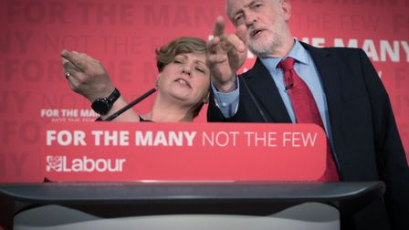 Emily Thornberry and Jeremy Corbyn. Picture: Stefan Rousseau/PA