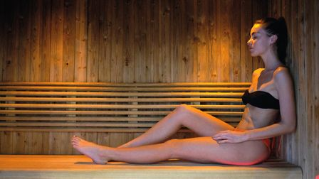 The sauna at Aztec Hotel and Spa. Picture: Aztec Hotel and Spa