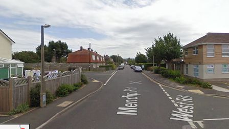Firefighters from Yatton tackle a blaze in two cars in Mendip Road.