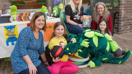 Author Jenny Scott holding a children's dragon workshop at the Museum during Weston Literary Festiva