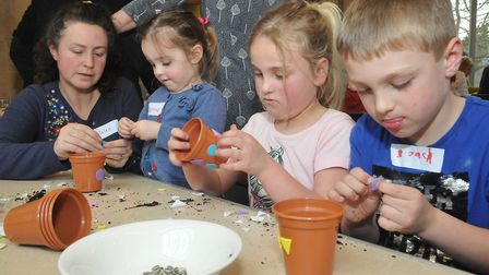 Messy Church at St Mary's Church in Yatton. Picture: Jeremy Long