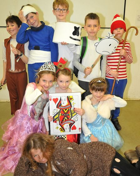 Wrington Primary School's key stage one World Book Day celebration. Picture: Jeremy Long
