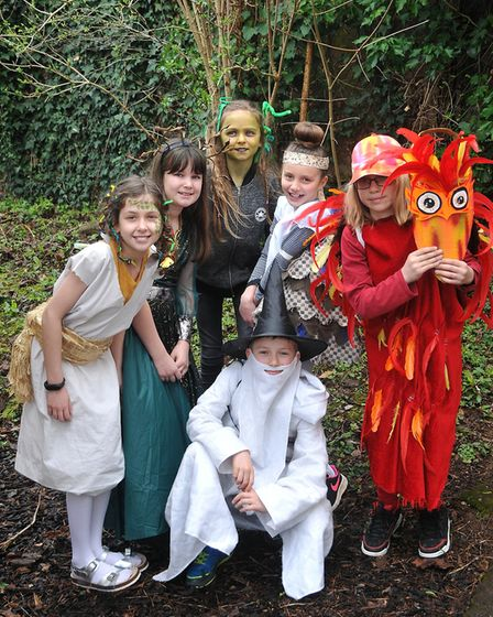 Backwell Junior School's year six pupils dressed as mythical creatures for World Book Day. Picture: