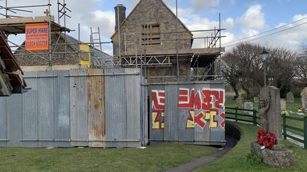 St Bridget's Church in Brean will be Boarded up till May while repair works continue
