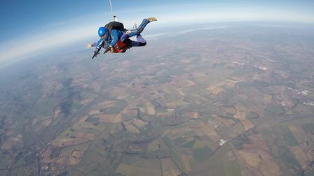 Andy Hutton-Young raised more than a £1000 by taking part in a skydive for the UK Sepsis Trust Credi