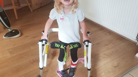 Rosie-Mays parents are hoping to raise £80,000 to fund her life-changing surgery.Picture: Westons Gr