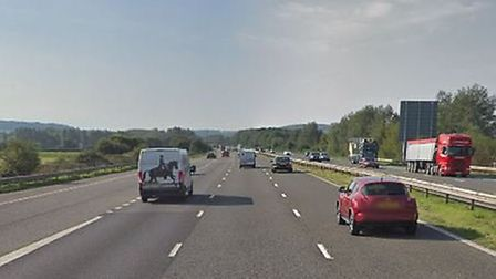 The M5 between Weston-super-Mare and Burnham has seen motorists drive at 71mph on average. Picture: