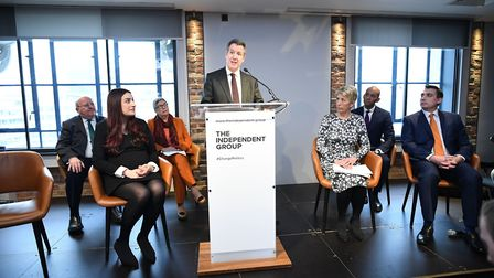 Labour MP Chris Leslie who has announced his resignation during a press conference along with a group of six other Labour...