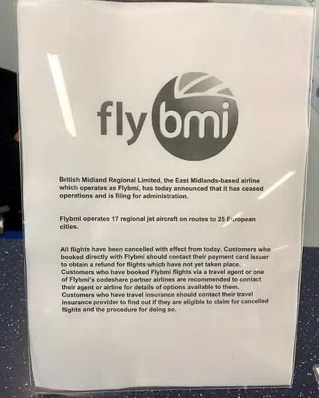 Flybmi announced it was going into administration yesterday (Saturday). Picture: Press Association