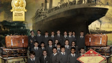 Students from Fairfield School in Backwell went on a trip to the Titanic museum in Belfast picture;