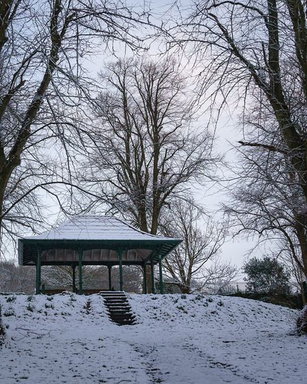 Ashcombe Park in the snow. Picture: Elise Poynton