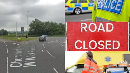 A man has been taken to hospital following the accident. Picture: Google Maps