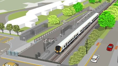 An artist's impression of what Pill station would look like once built. Picture: MetroWest.