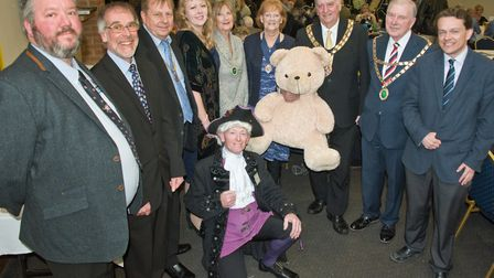 Burnham and Highbridge Mayor Bill Hancock with guests at a charity auction. Picture: MARK ATHERTON