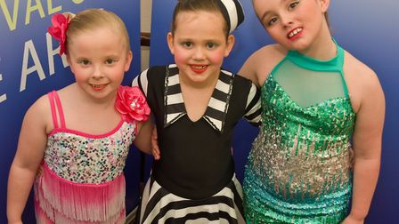 Rosie Eades, Maddie Warcup and Isobel Rose Davis performed at Highbridges festival of arts. Picture: