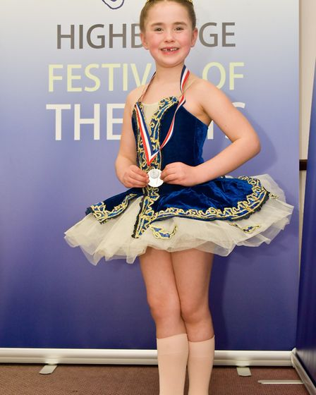 Mabel Owen, aged seven, at the Highbridge Festival Of The Arts.Picture: Mark Atherton