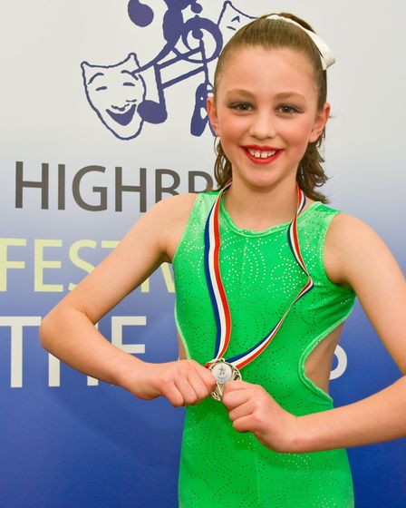 Megan Boyd won a medal in the Lyrical Modern class for the 7-8 years class.Picture: Mark Atherton