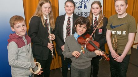 The Elmington Little Orchestra who took part in the Highbridge Festival of The Arts. Picture: M