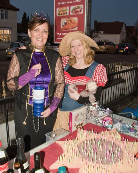 Fundraiser for Weston charities outside Milton Fish Bar. Picture: MARK ATHERTON