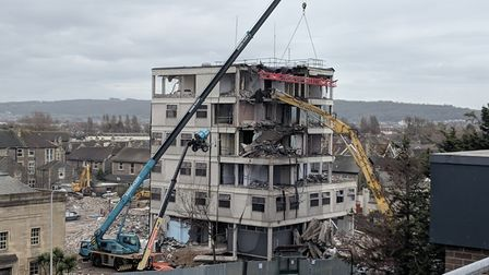 Weston's police station is being demolished bit-by-bit. Picture: North Somerset Council