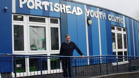 Alan outside Portishead Youth Centre