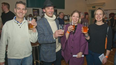 People enjoying themselves at Wrington Beer Festival.Picture: Mark Atherton