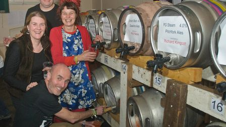 Beer and cider was flowing at Wrington Beer Festival.Picture: Mark Atherton