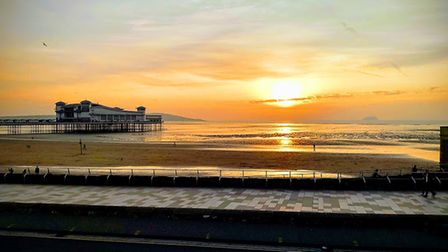 A picture of Weston's Grand Pier during February's warmer weather.