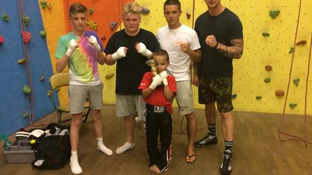 The team from Warrior Gym in Worle.