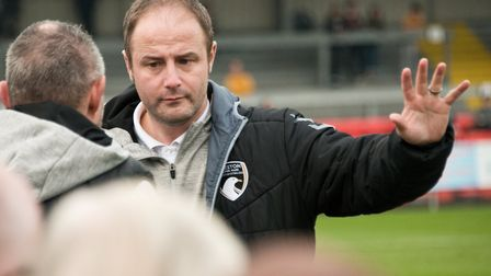 Weston FC's former manager on the touchline. Picture: MARK ATHERTON
