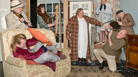 Dress rehearsal of the Wayfarers production of Pull The Other One at the Theatre In The Hut. Pict