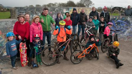 Grant Garge and the Ride Mendips charity are raising money for a pump track at Cheddar skate park in