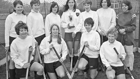 The Weston Girls Grammar School Hockey XI, unbeaten this season and without a goal scored against th