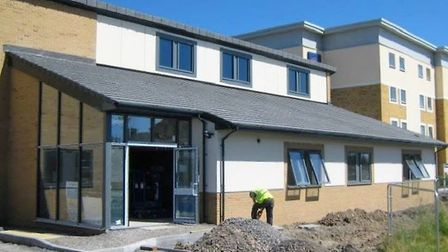 Happy Days nursery during its construction.Picture: Happy Days nursery