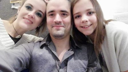 Shauni, Jay and Madison after their hair cut.