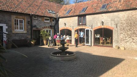 The courtyard which staff are hoping to turn into a nostalgic sensory area for residents.